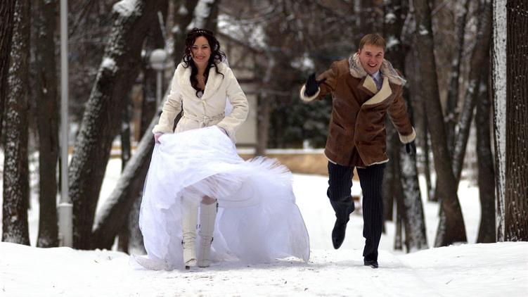 Свадьба зимой.фото